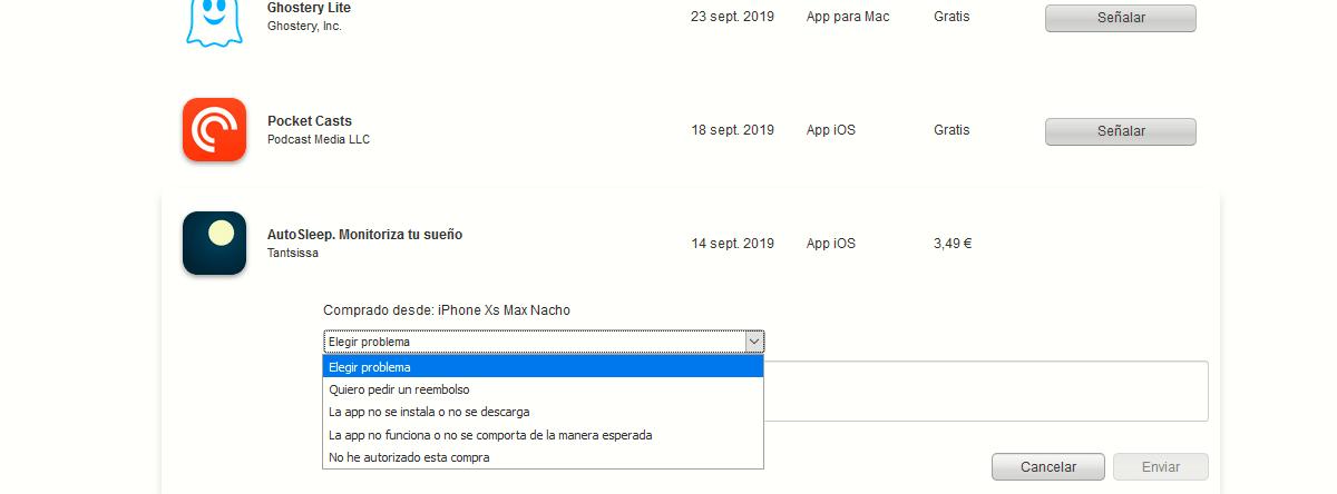 Devolver aplicaciones en App Store