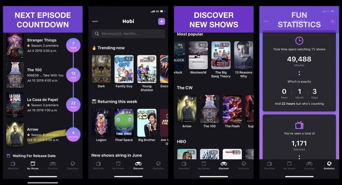 Hobi - seguir nuestras series y películas favoritas desde nuestro smartphone