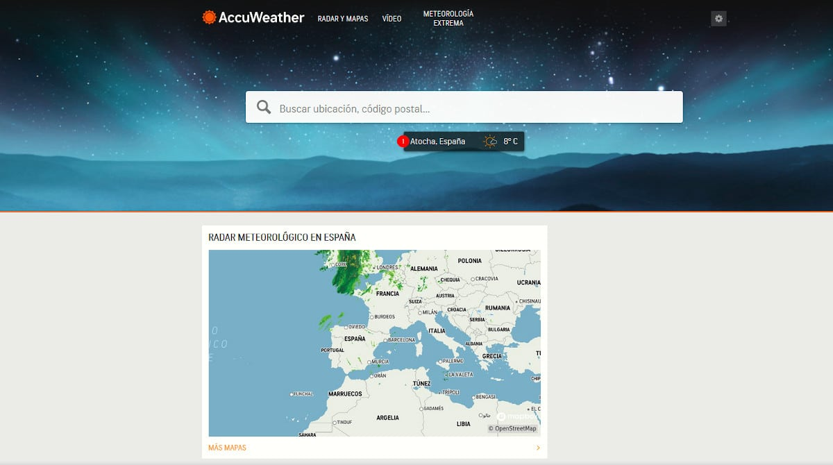 Accuweather- Rastreadores de terceros
