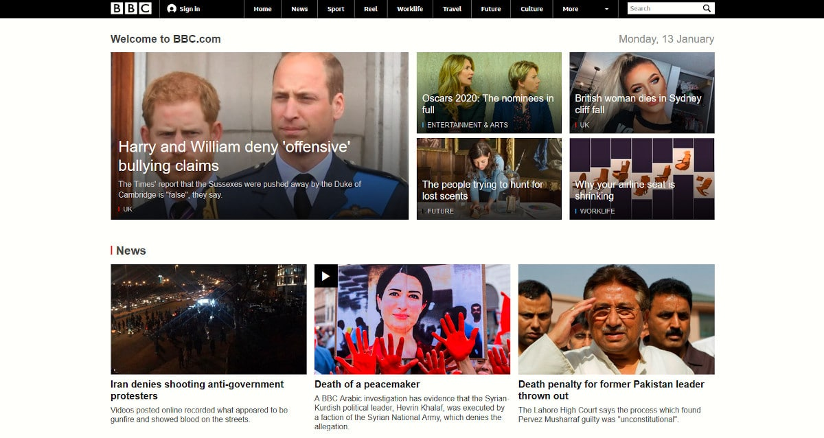 BBC - Rastreadores de terceros