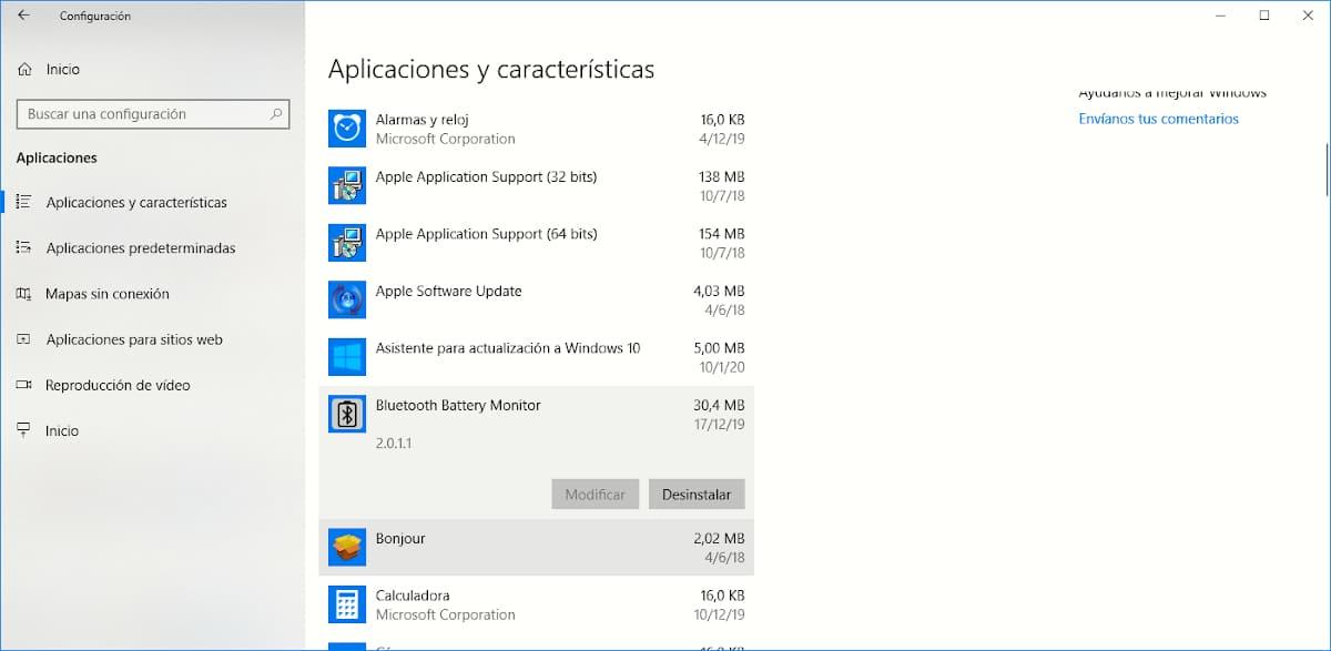 Desintarla aplicaciones Windows 10