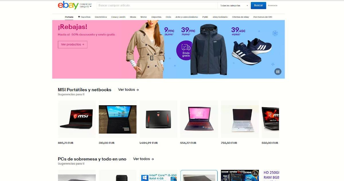 eBay - Rastreadores de terceros