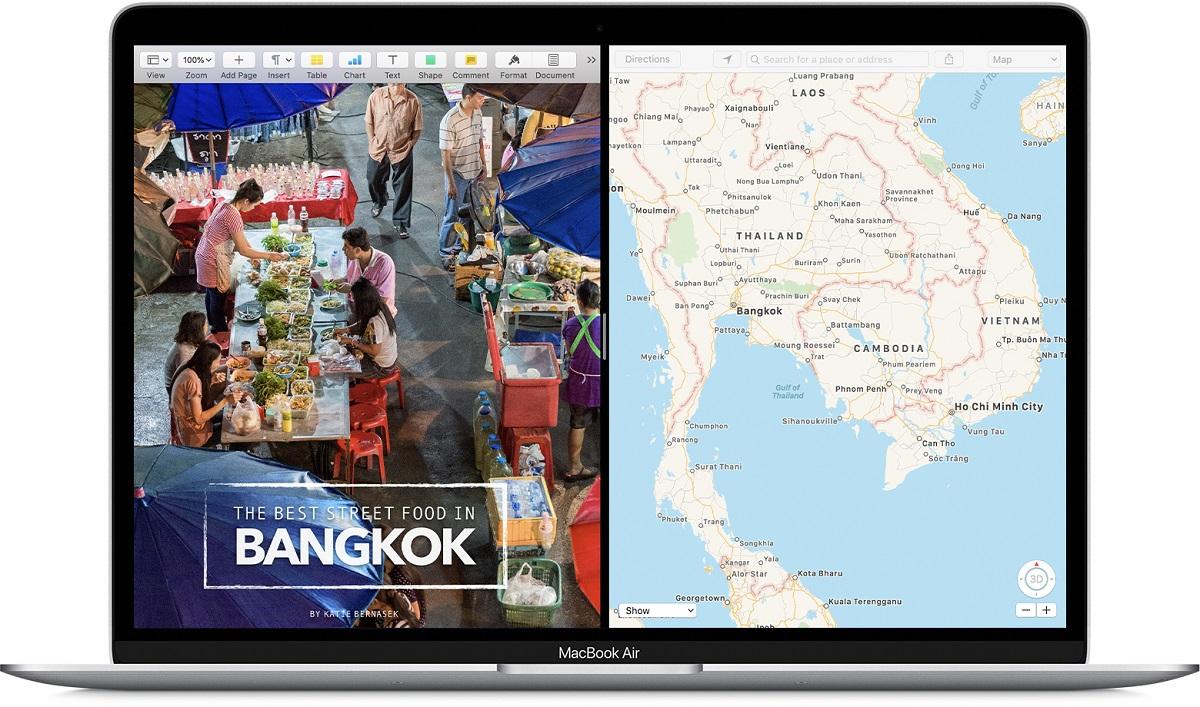 Dividir pantalla Mac