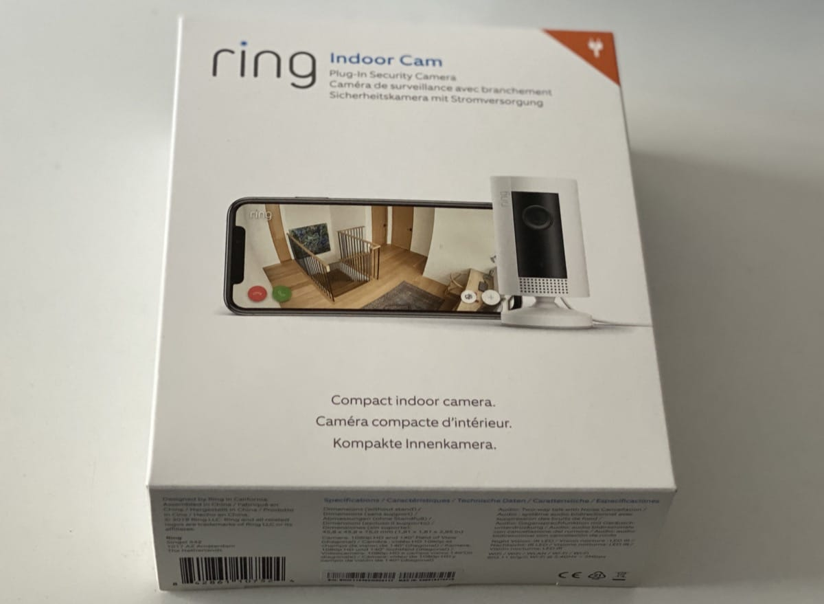 Ring Indoor Cam caja