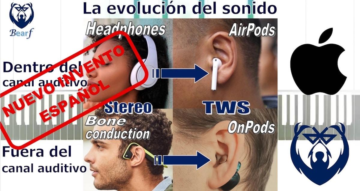 distintos tipos auriculares