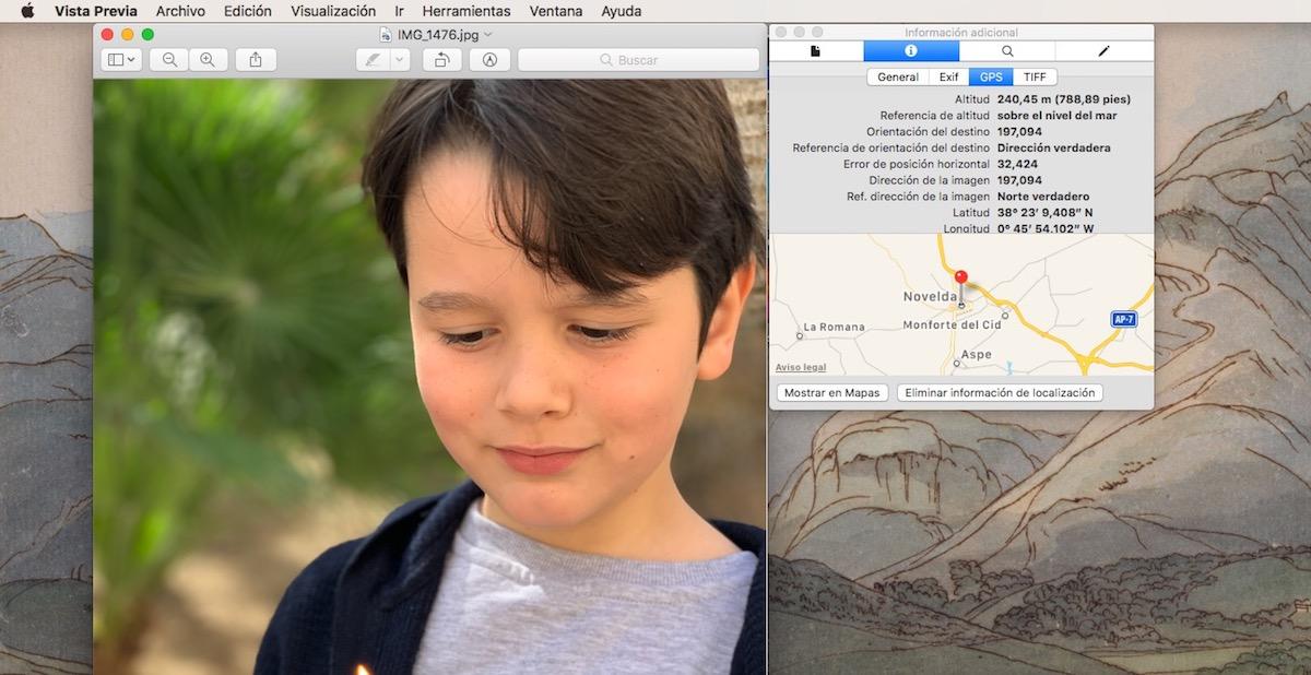 Ver ubicación imágenes en Mac macOS