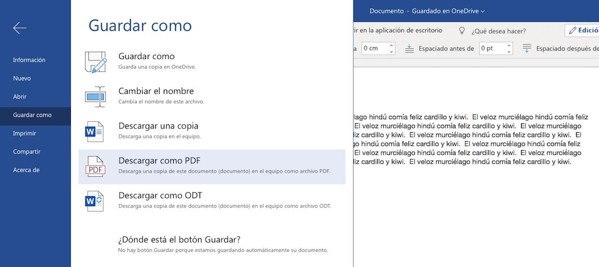 Trucos Microsoft Word - Guardar Word en PDF