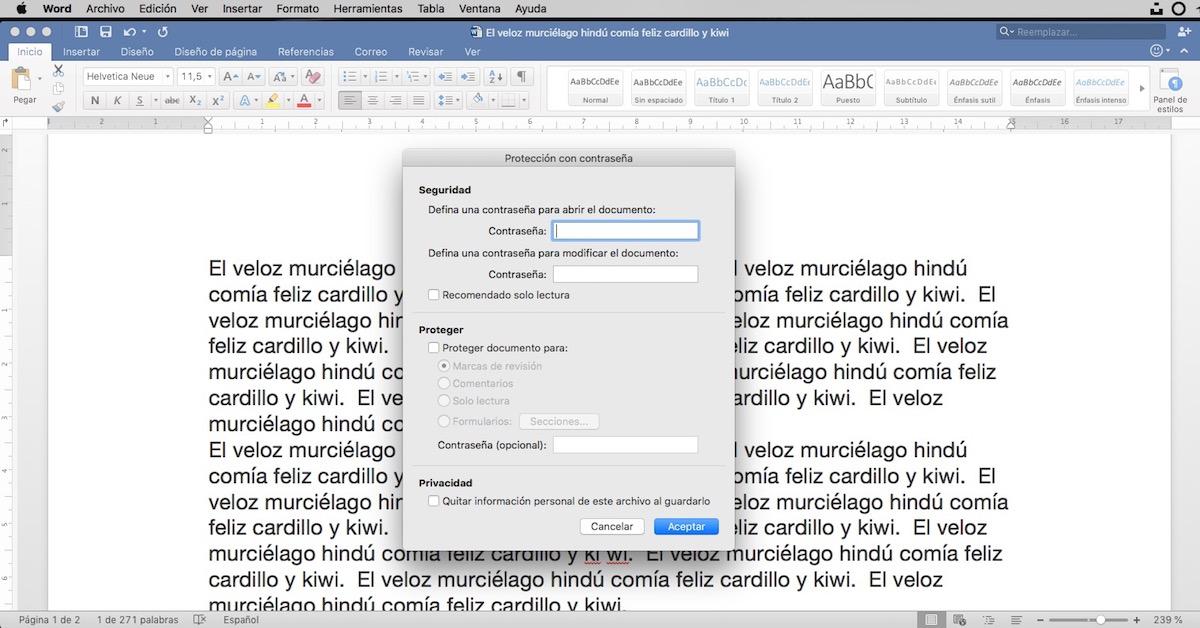 Trucos Microsoft Word - Proteger un documento con contraseña