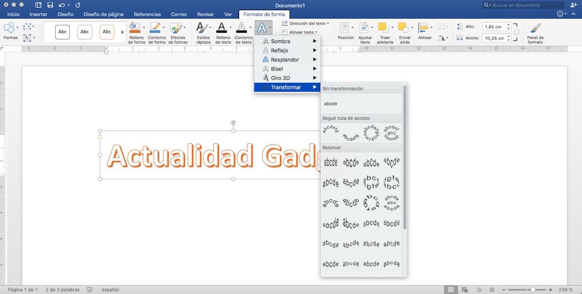Trucos Microsoft Word - Word Art