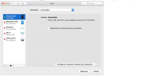 macOS compartir Wi-Fi