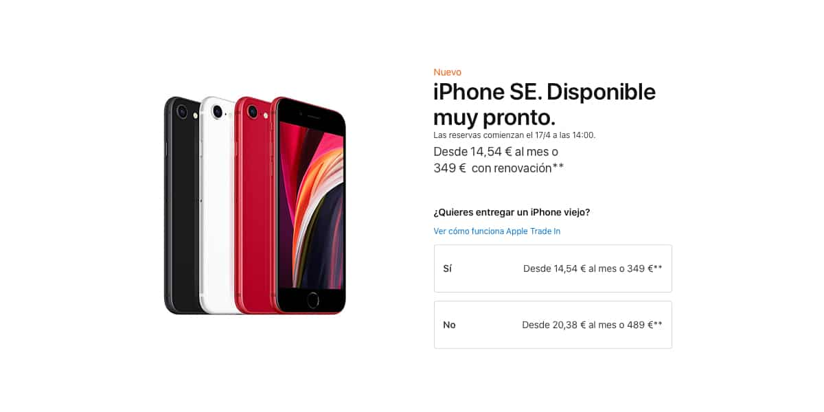 Precios iPhone se 2020
