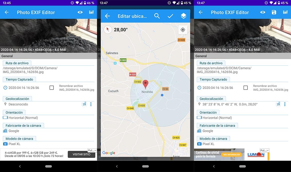 Añadir la ubicación de una foto en Android