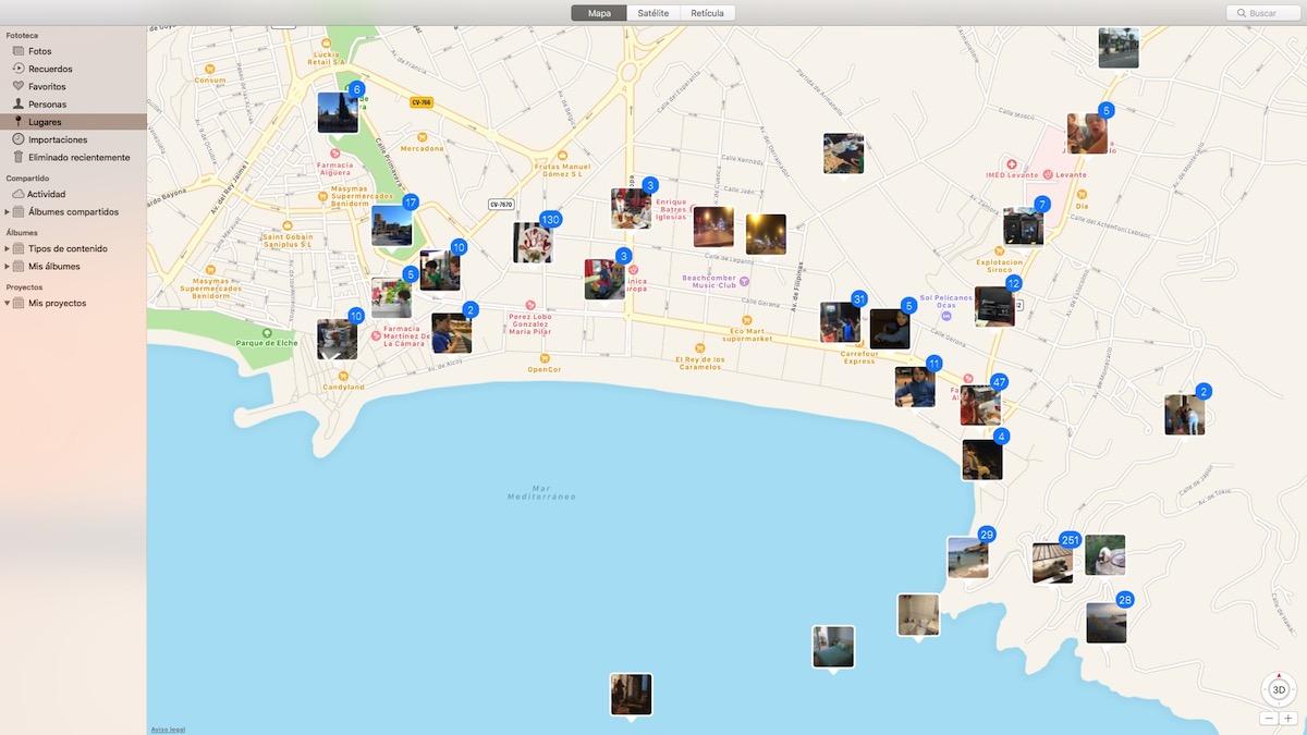 Añadir ubicación fotos en Mac