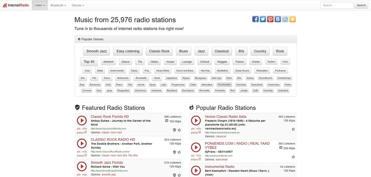 Internet Radio - Esucha la radio por internet