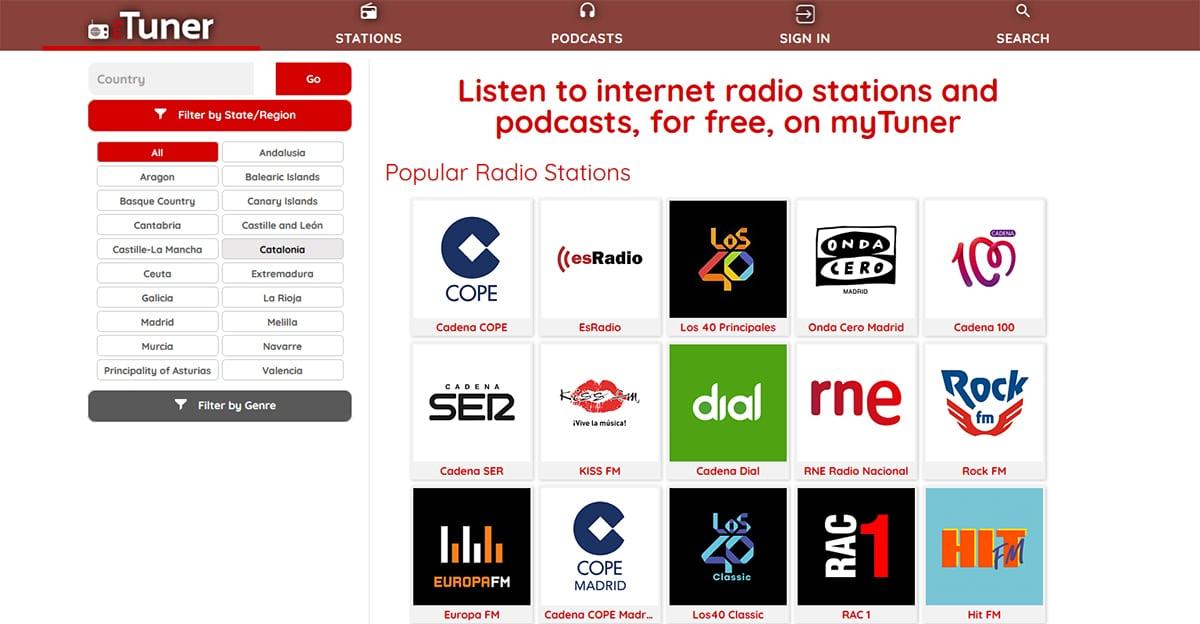 MyTurner - Escuchar radio por internet