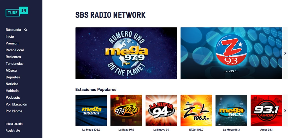 TuneIn - Escuchar la radio por Internet