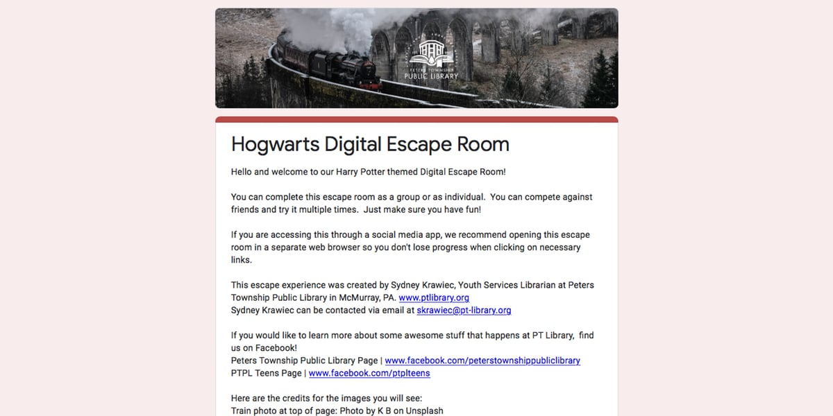 Hogwarts escape