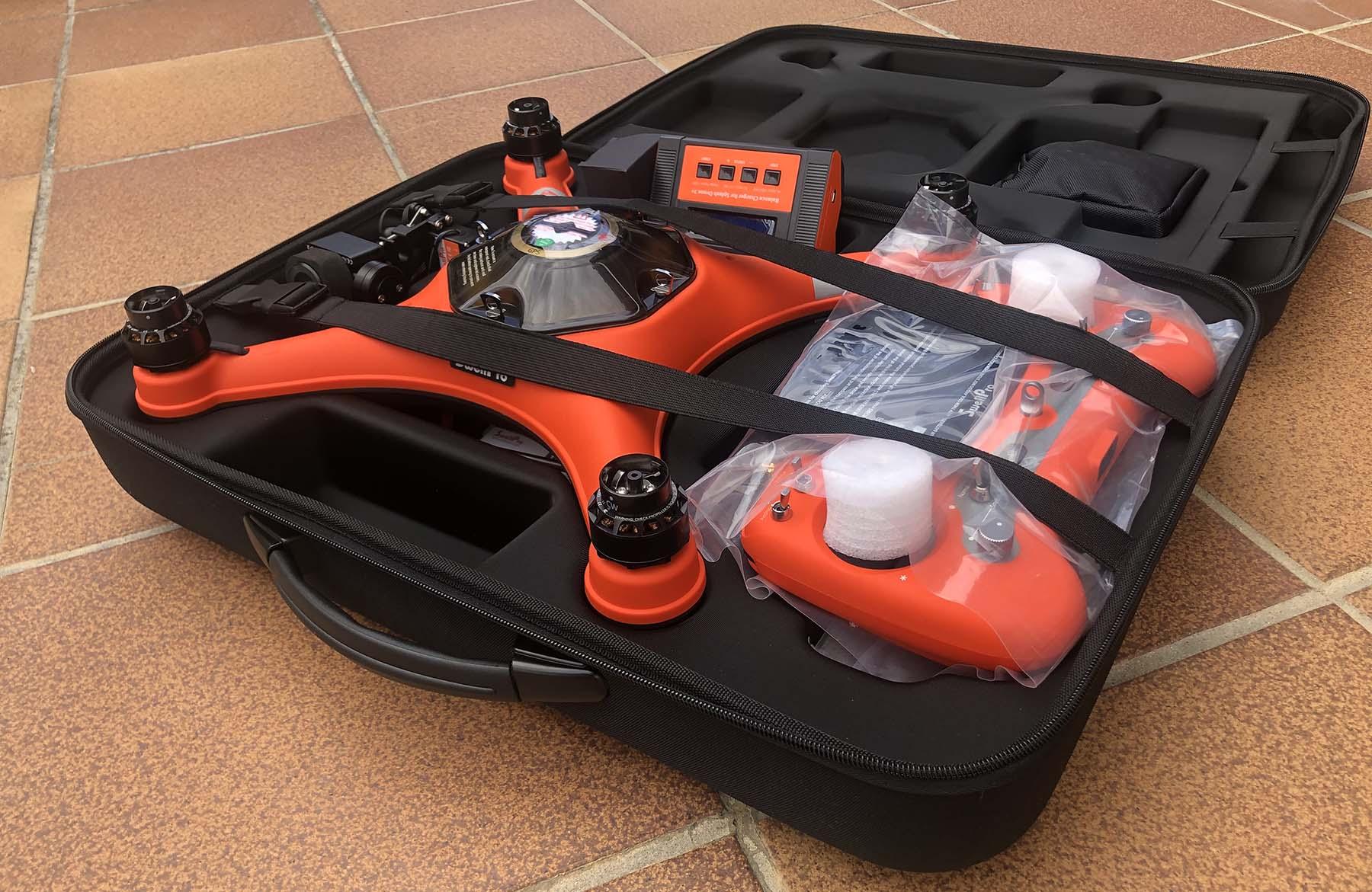 maletin drone abierto