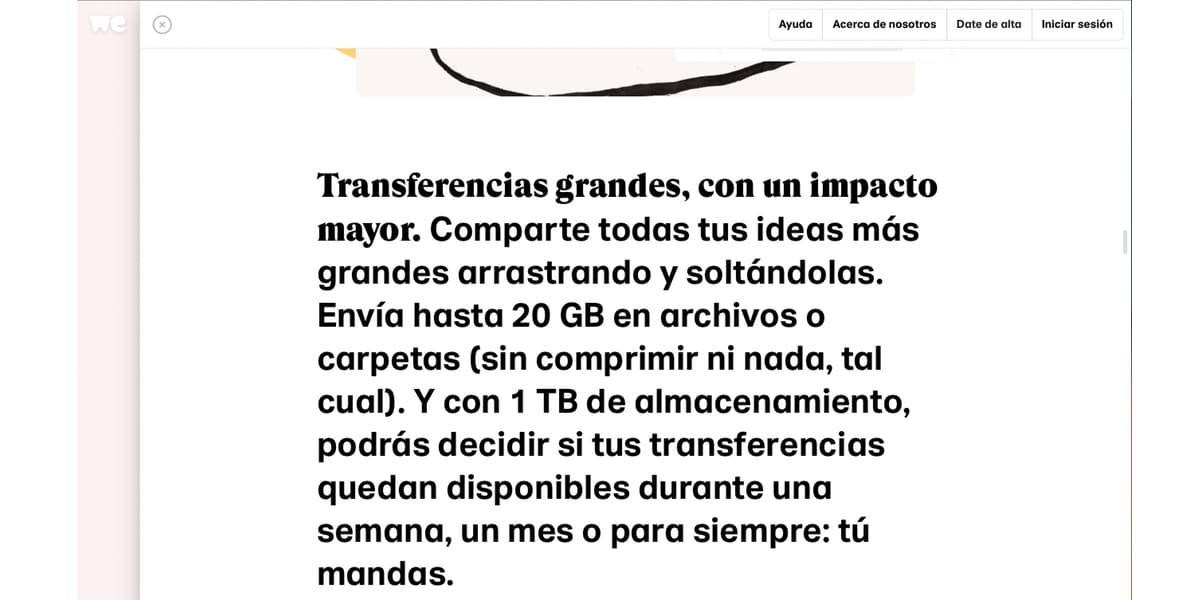 WeTransfer plus