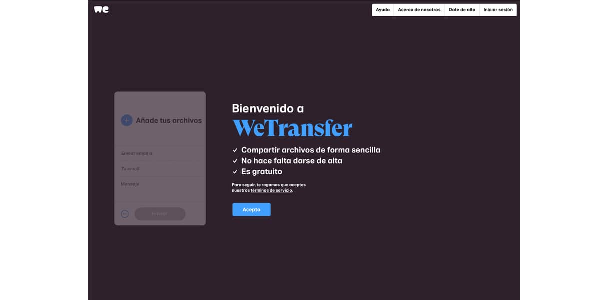 Web WeTransfer