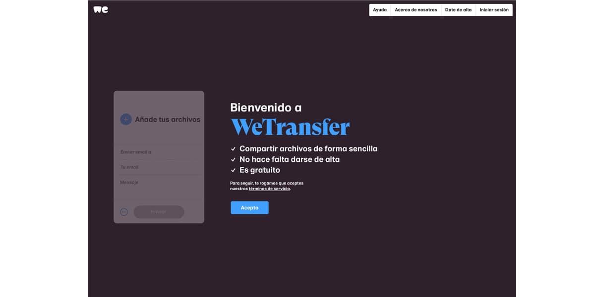 Web WeTransfer